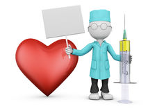 Doctor and red heart Stock Image