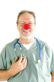 Doctor with red nose Royalty Free Stock Images