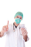 Doctor reject bribe Royalty Free Stock Photography