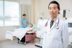 Doctor on Renal Ward in Hospital Royalty Free Stock Images