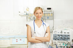 The doctor in resuscitation Royalty Free Stock Photography