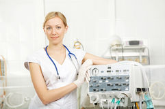 The doctor in resuscitation Royalty Free Stock Image