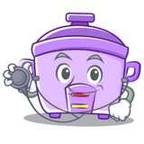 Doctor rice cooker character cartoon Royalty Free Stock Images
