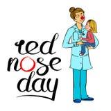 Doctor rojo de la nariz Foto de archivo libre de regalías