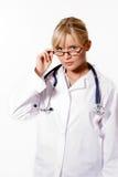 Doctor rubio joven de la mujer Imagen de archivo