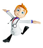 Doctor with run pose Royalty Free Stock Photos
