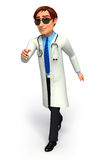 Doctor with is running Royalty Free Stock Images