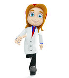 Doctor with running pose Stock Photo