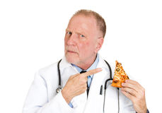Doctor's advice: don't eat bad food Stock Photo