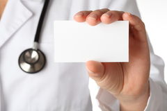 Doctor's business card Stock Image