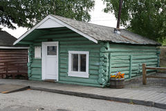 Doctor's Cabin. Early doctor's cabin moved to Pioneer Park, Fairbanks, Alaska stock photography