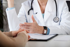 Doctor's consultation closeup stock images