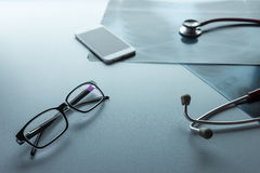 Doctor's desk Stock Images