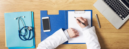 Doctor's desktop Royalty Free Stock Photography