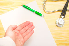 Doctor's hand Royalty Free Stock Images