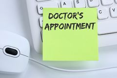 Doctor`s medical appointment doctor medicine ill illness healthy. Health business concept mouse computer keyboard royalty free stock photography
