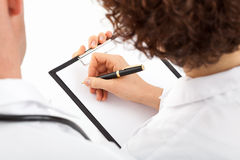 Doctor's notes royalty free stock images