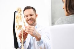 Orthopaedist. A doctor in a doctor`s office royalty free stock photography