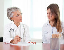 At doctor's office Royalty Free Stock Photo