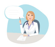 Doctor`s orders - Medical concept. Female doctor talking about healthcare explaining tests results Stock Photography