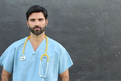 Doctor`s portrait with copy space Stock Photos