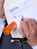 Doctor's Prescription Stock Images