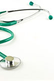 Doctor's stethoscope background. Doctor's stethoscope on a white background Stock Photos