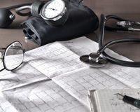 Doctor's table. During the break Royalty Free Stock Photo