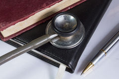 Doctor s work table royalty free stock images