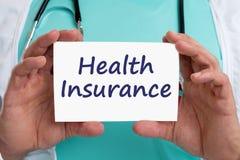 Doctor sano de la enfermedad enferma médica del concepto del seguro médico Imagen de archivo