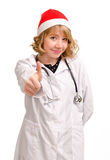 Doctor in Santa hat Royalty Free Stock Image