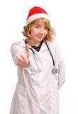 Doctor in Santa hat Royalty Free Stock Image