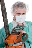 Doctor with saw Stock Images