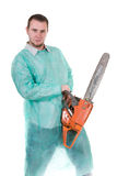 Doctor with saw Stock Photos