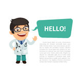 Doctor Saying Hello Poster Royalty Free Stock Photo