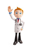 Doctor with saying hi pose Stock Image
