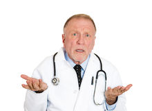 Doctor says I don't know Stock Photo