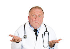 Doctor says I don't know Royalty Free Stock Image