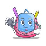 Doctor school bag character cartoon Royalty Free Stock Photography