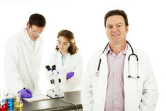 Doctor in Science Lab Royalty Free Stock Photo