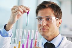 Doctor scientist in labaratory Stock Images
