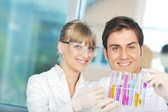 Doctor scientist in labaratory Stock Photos