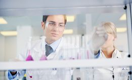 Doctor scientist in labaratory Stock Photography