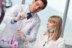 Doctor scientist in labaratory Stock Photo