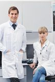 Doctor scientist in labaratory royalty free stock photos