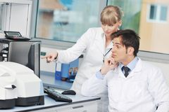 Doctor scientist in labaratory royalty free stock image