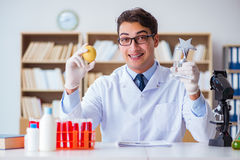 The doctor scientist receiving prize for his research discovery. Doctor scientist receiving prize for his research discovery Royalty Free Stock Image