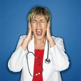 Doctor screaming. Royalty Free Stock Photos