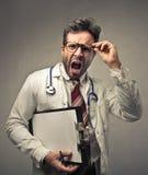 Doctor screaming Stock Photo