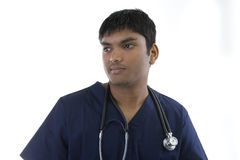 Doctor in scrubs Royalty Free Stock Image